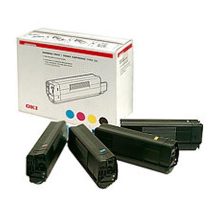 OKI 43112702 Original Rainbow Pack of 4 Toner Cartridges Black  Cyan  Magenta  Yellow