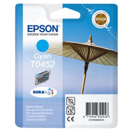 Epson T0452 (T045240) Cyan Standard Capacity Original Cartridge (Parasol)