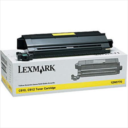 Lexmark 12N0770 Original Yellow Toner Cartridge