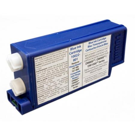 Compatible Blue Pitney Bowes 767-8SB (DM800) Ink Cartridge