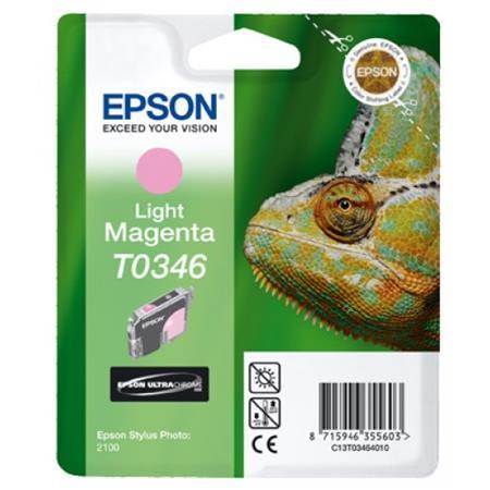 Epson T0346 (T034640) Light Magenta Original Ink Cartridge (Chameleon)