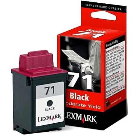 Lexmark No. 71 Black Original Moderate Use Ink Cartridge