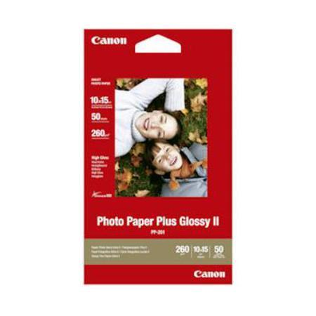 Canon PP-201 Glossy Photo Paper Plus II 260g 6 x 4 (50 Sheets)