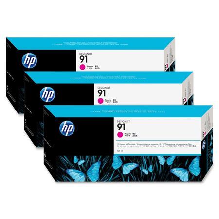 HP 91 Magenta Original Ink Cartridge with Vivera Ink 3 Pack