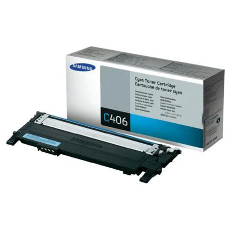 Samsung CLT-C406S/ELS Cyan Original Standard Capacity Toner Cartridge