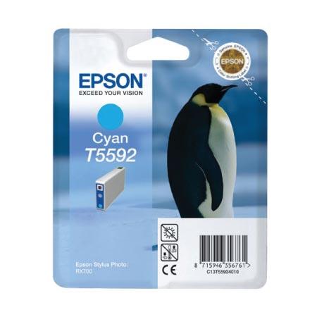 Epson T5592 (T559240) Cyan Original Ink Cartridge (Penguin)
