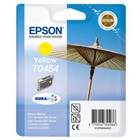 Epson T0454 (T045440) Yellow Standard Capacity Original Cartridge (Parasol)