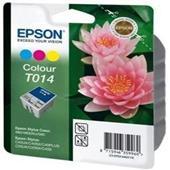 Epson T014 (T014401) Colour Original Ink Cartridge (Pink Flower)