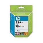 HP 15/78d Original Inkjet Print Cartridge Combo Pack
