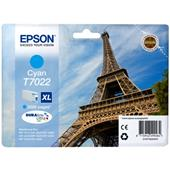 Epson T7022 (T702240) Cyan High Capacity Original Cartridge (Eiffel Tower)