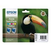 Epson T009 (T009402) Colour Original Ink Cartridge Twin Pack (Toucan)