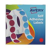 Avery Labels in Disp Round 19mm DIA Red 24-506 (1120 Labels)