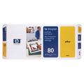 HP 80 Yellow Original Printhead and Printhead Cleaner Bundle