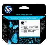 HP 91 Light Grey and Photo Black Original Printhead