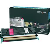 Lexmark C5240MH Original Magenta High Capacity Return Program Toner Cartridge