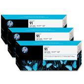 HP 91 Photo Black Original Ink Cartridge with Vivera Ink 3 Pack