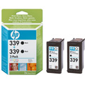 HP 339 Black Original Twinpack Inkjet Print Cartridge with Vivera Ink