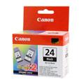 Canon BCI-24K Black Twin Pack Original Cartridge