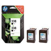HP 338 Black Original Twinpack Inkjet Print Cartridge with Vivera Inks