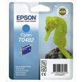 Epson T0482 (T048240) Cyan Original Ink Cartridge (Seahorse)