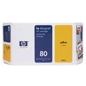 HP 80 Yellow Standard Capacity Original Ink Cartridge (175ml)