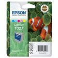 Epson T027 (T027403) Colour Original Ink Cartridge Twin Pack (Fish)