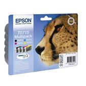 Epson T0715 (T071540) Original Ink Cartridge Multipack (Cheetah)
